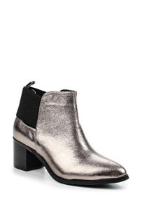 Lost Ink Aimon mid block heel ankle boots