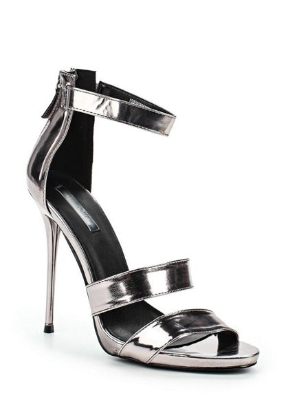 Lost Ink Daya stiletto heeled sandals