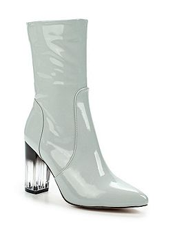Geneva perspex and patent boots