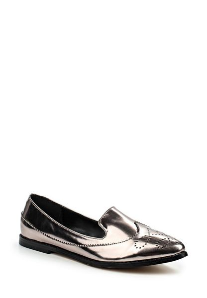Lost Ink Boo wing cap loafers