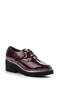 Lost Ink Jimbo monk strap flat shoes