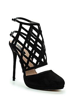 Dutch caged heeled shoes