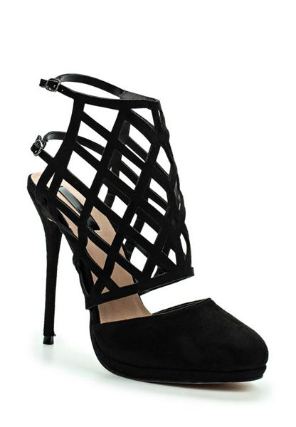 Lost Ink Dutch caged heeled shoes