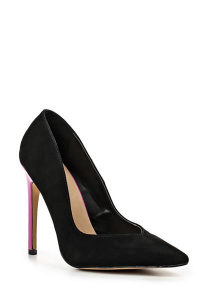 Lost Ink Dolcine contrast heel court shoes
