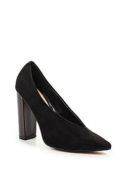 Darby high vamp heeled shoes