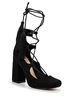 Drey ghillie lace block heeled shoes