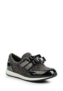 Lost Ink Silva double bow velcro trainers