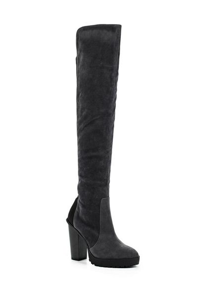 Lost Ink Georgie stretch panel over knee boots