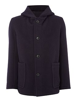 Wool Smock Duffle Coat