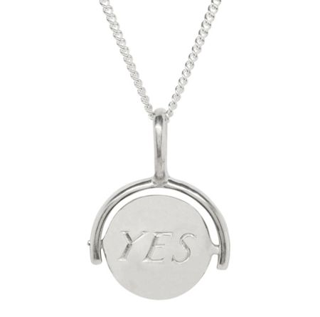 Katie Mullally Silver yes/no charm and chain
