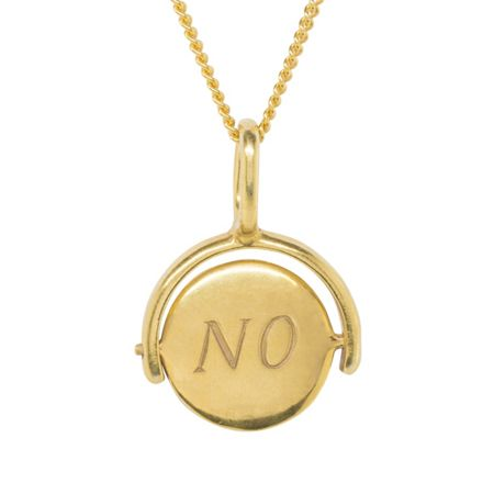 Katie Mullally Gold plated yes/no charm and chain