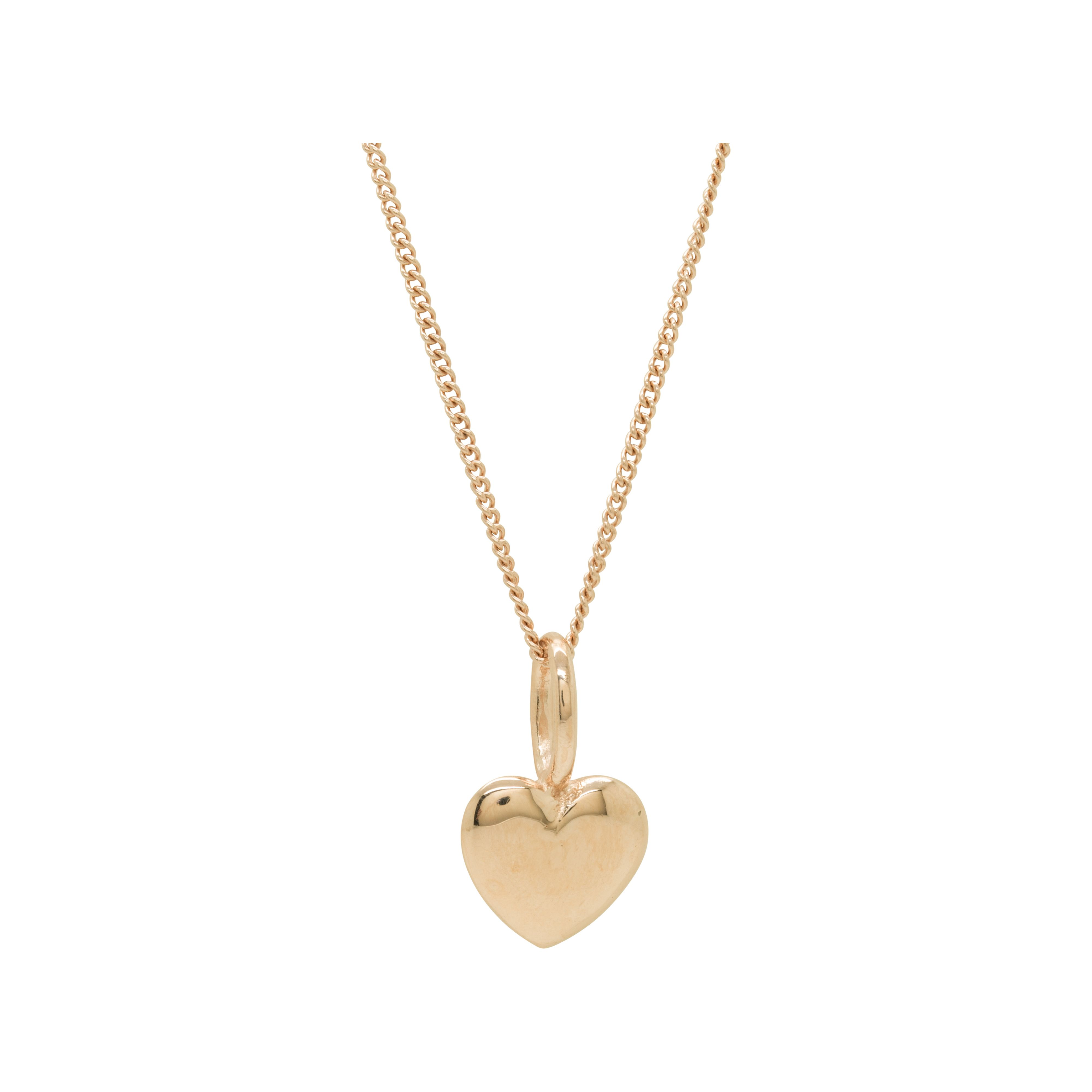 Katie Mullally Katie Mullally Rose gold plated beaten heart and chain, Metallic