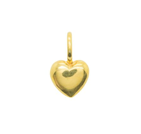 Katie Mullally Beaten heart yellow gold charm