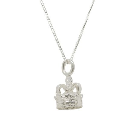 Katie Mullally Silver crown charm and chain