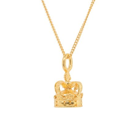Katie Mullally Gold plated crown 18 and chain
