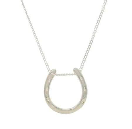 Katie Mullally Small horseshoe charm 18 silver