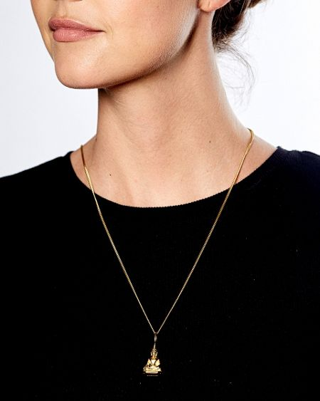 Katie Mullally Gold plated buddha charm and chain