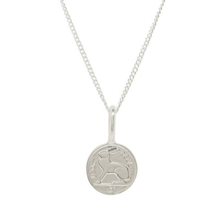 Katie Mullally Silver 3p irish coin charm and chain