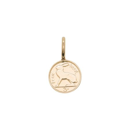 Katie Mullally Rose gold plated 3p irish coin charm