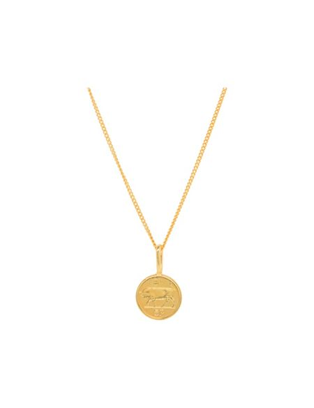 Katie Mullally Gold plated 5p irish coin charm + chain