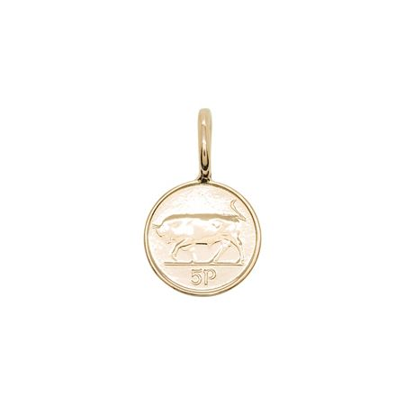 Katie Mullally Rose gold plated 5p irish coin charm