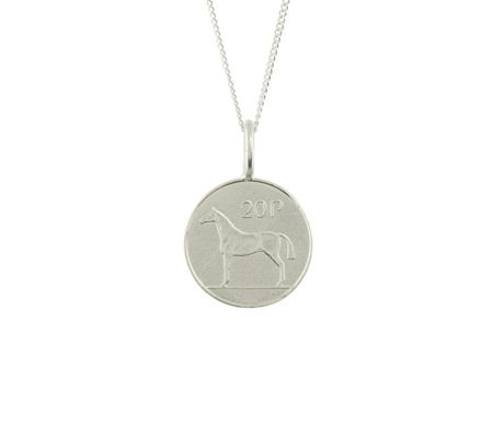Katie Mullally Silver 20p irish coin charm and chain