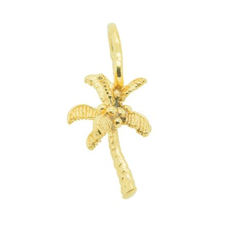 Katie Mullally Gold plated palm tree charm