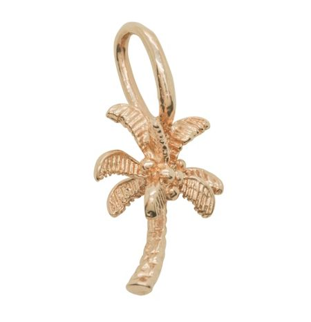 Katie Mullally Rose gold palm tree charm