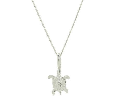 Katie Mullally Silver turtle charm and chain