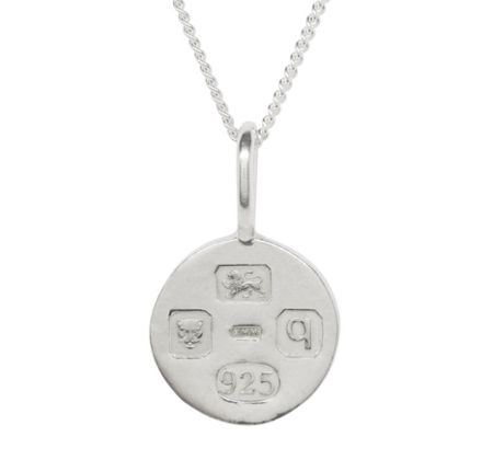 Katie Mullally Silver med hallmark circle + chain