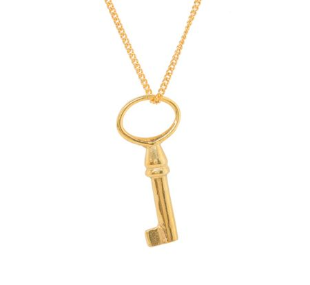 Katie Mullally Gold plated medium key and chain
