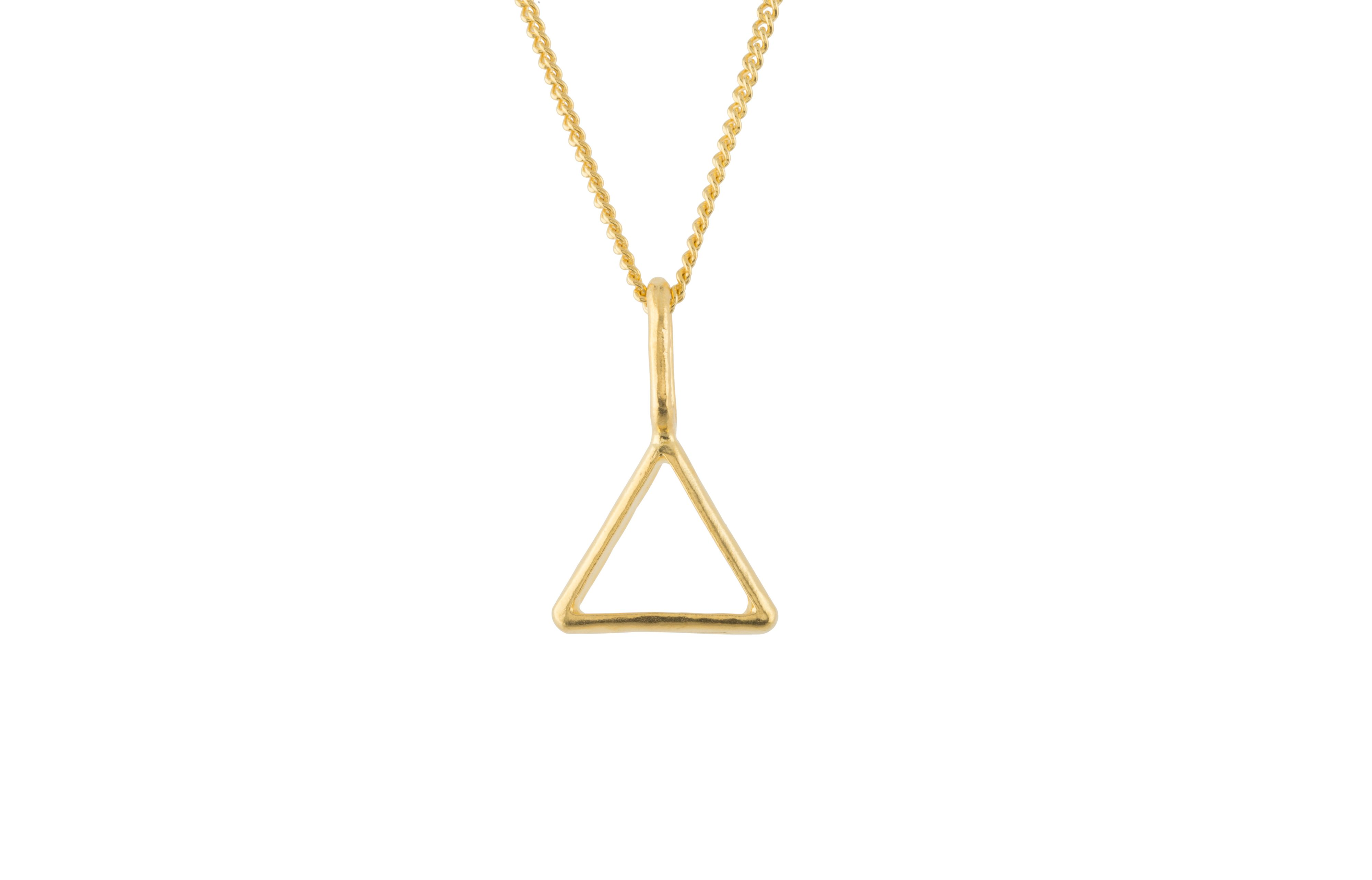 Katie Mullally Katie Mullally Gold plated hollow triangle and chain, Metallic