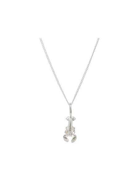 Katie Mullally Silver lobster charm and chain