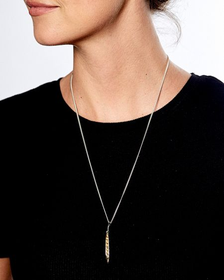 Katie Mullally Peas in a pod yellow gold and chain