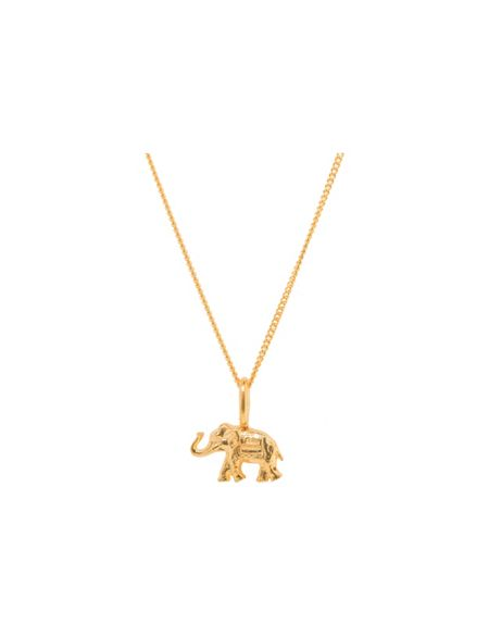 Katie Mullally Gold plated elephant charm and chain