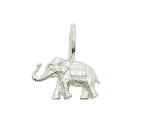 Katie Mullally Silver elephant charm