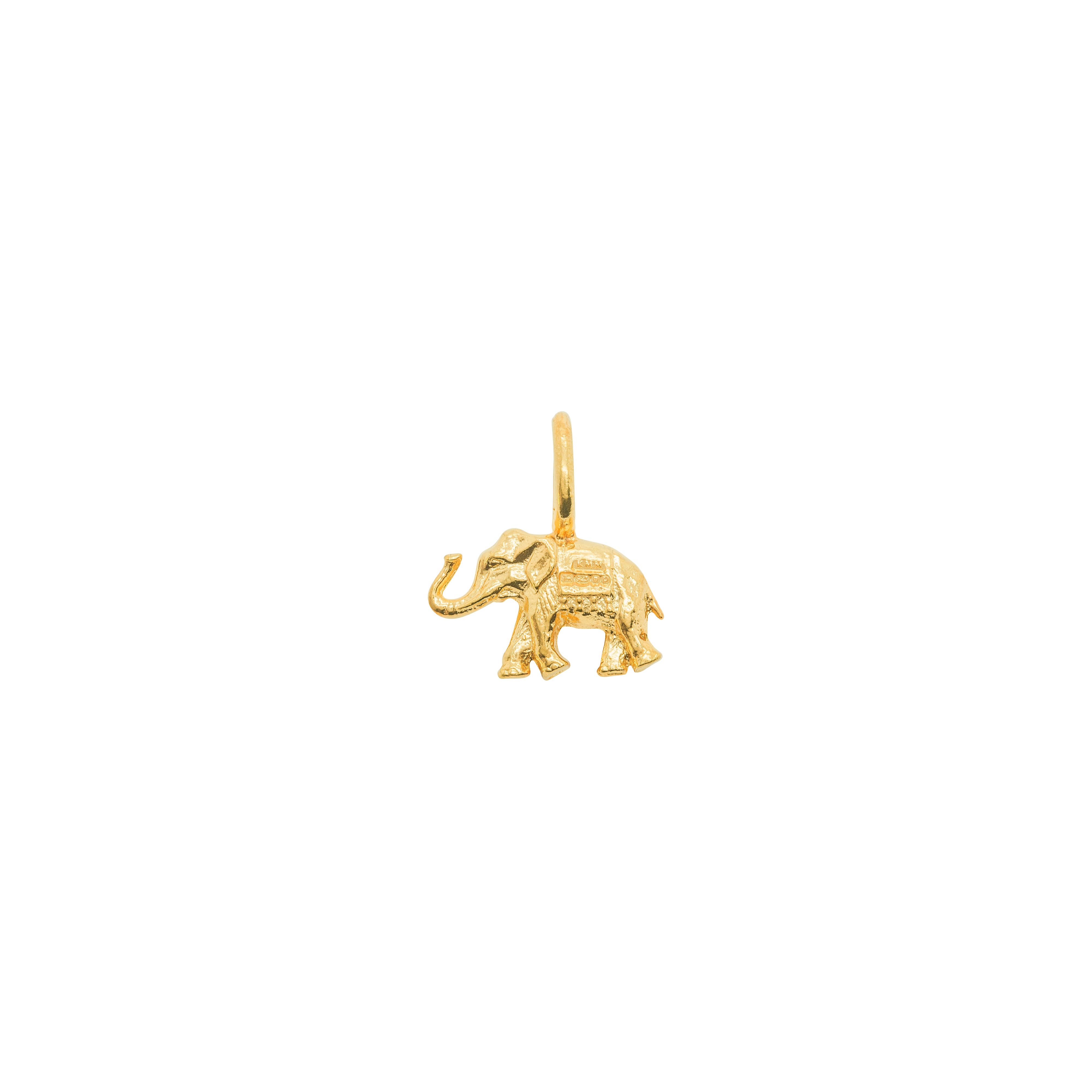Katie Mullally Katie Mullally Gold plated elephant charm, Metallic