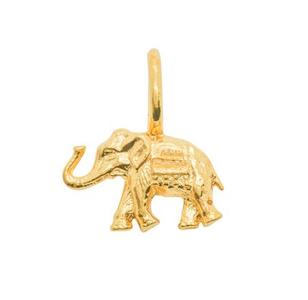 Katie Mullally Gold plated elephant charm