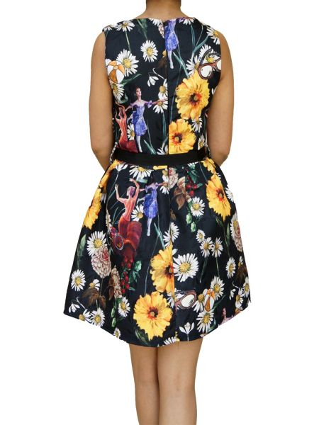 Koo-Ture Daisy Print Jaquard Dress