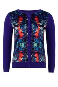 Wolf & Whistle Mirror Floral Print Cardigan