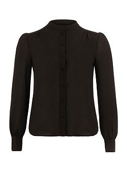 Black Round Neck Blouse