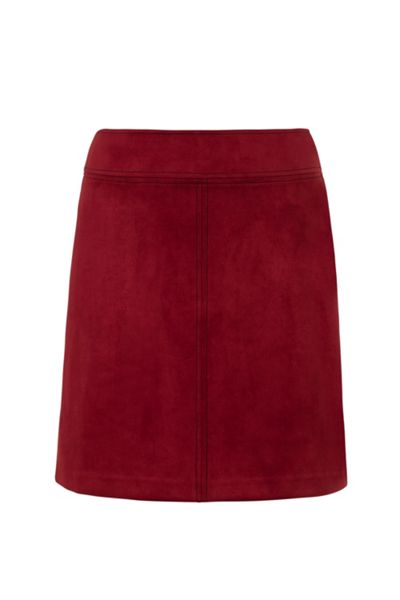 Wolf & Whistle Suede Look Skirt