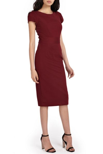 Wolf & Whistle Midi Length Tailored Dress