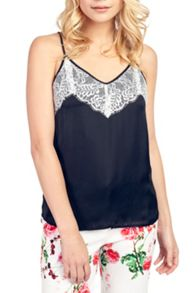 Wolf & Whistle Lace Overlay Camisole