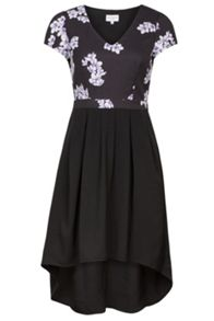 Wolf & Whistle Drawn Blossom Cut Out Dress