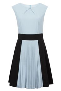 Wolf & Whistle Pleated Colour Block Dress