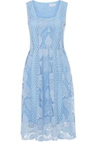 Wolf & Whistle Crochet Lace Prom Dress