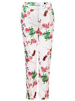 Carnations Textured Trousers