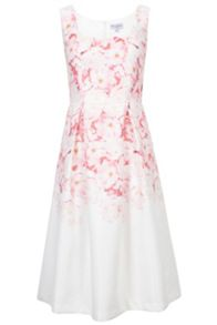 Wolf & Whistle Ombre Floral Midi Dress