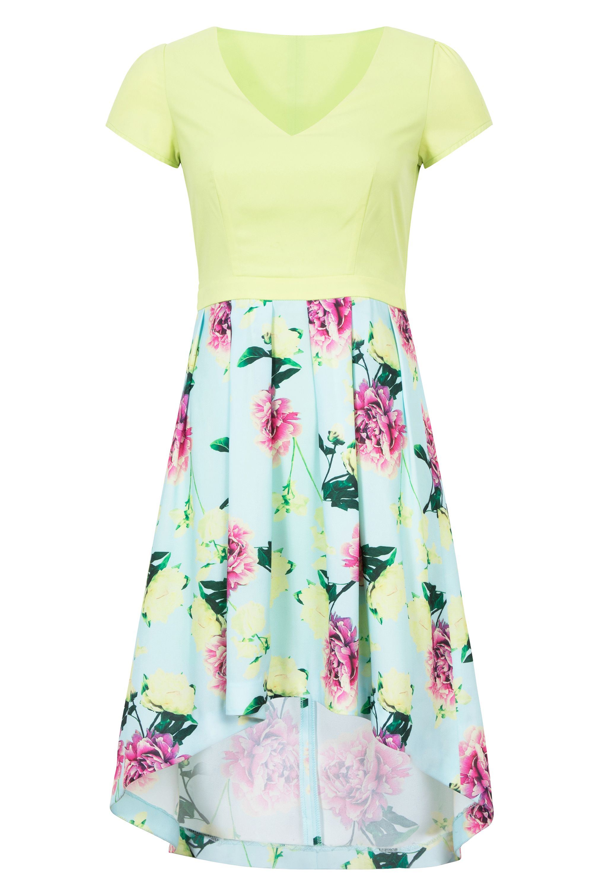 Wolf & Whistle Sweetpea Cut Out Dress MultiColoured